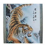 Chinese Color Ink Tiger Theme Scroll Painting Original Wall Art ws768S