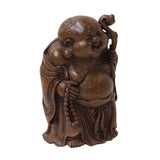 Chinese Bamboo Carved Happy Buddha RuYi Figure Display ws772S