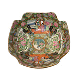 Chinese Oriental Porcelain People Scenery Bowl Container Decor ws787S