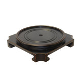 "Black Lacquer Square Round Table Top Stand Display Easel 8.875"" ws901DS"