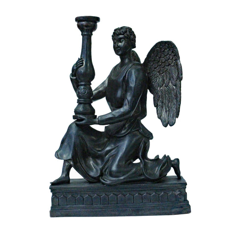 candle holder - angel figure - metal figure art
