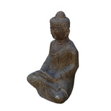 Chinese Gray Stone Carved Small Sitting Buddha Statue ws960S