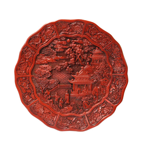 lacquer plate - resin plate - oriental plate