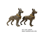 Pair Metal Mini Table Top Dogs Figure