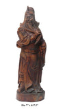 wood carved Kwan Kong statue