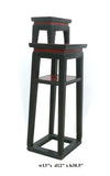 Chinese Black & Red Narrow Side Table Stand