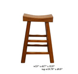 Light Brown Thick Natural Wood Bar Stool