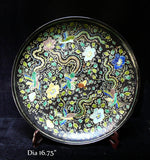 large size Chinese Phoenix painted plate