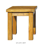 Chinese Raw Wood Rectangular Simple Stool Ottomen Table f925S