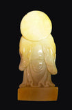 Chinese Yellow Nephrite Happy Buddha Small Statue ys973s