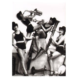 Greetings Card All Girl Jazz Band