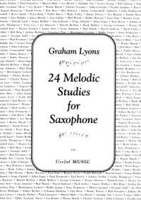 24 Melodic Studies for Saxophone (Lyons)