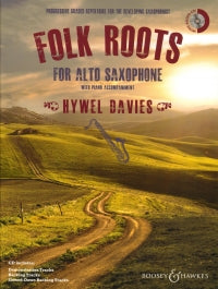 Folk Roots For Alto Saxophone Davies Book & Cd