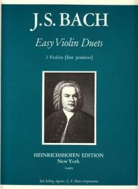 Bach, J.S.: Easy Violin Duets (1st position)