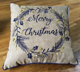 Xmas Wreath Cushion