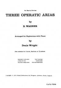 Wagner: Three Operatic Arias Euphonium