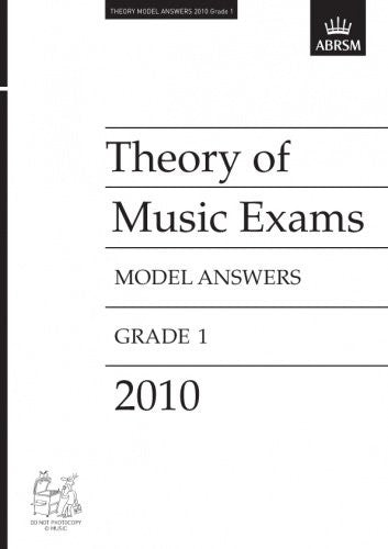 ABRSM Theory Model Answers Grade 1 2010