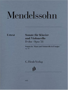 Mendelssohn: Sonata for Piano & Cello D major