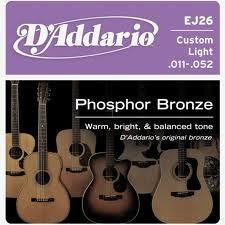 D'Addario Phos/Bronze Custom Light Acoustic Str.