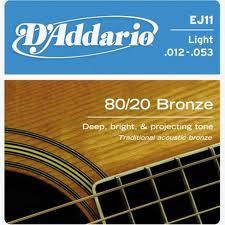 D'Addario 80/20 Bronze Light Acoustic Str.