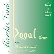 Dogal Cello String Green SET