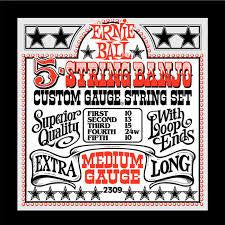 Ernie Ball 5-String Banjo Strings Medium