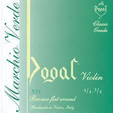 Dogal Violin Strings SET Green 4/4-3/4