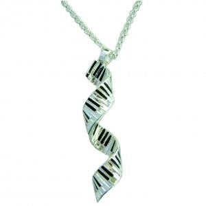 Silver-plated Spiral Keyboard Pendant
