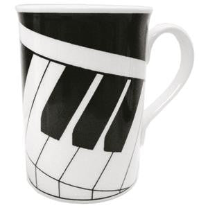 Bone china mug - keyboard