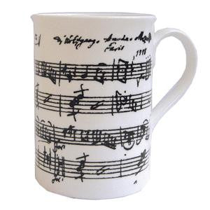 Bone China Mug - Manuscript design white