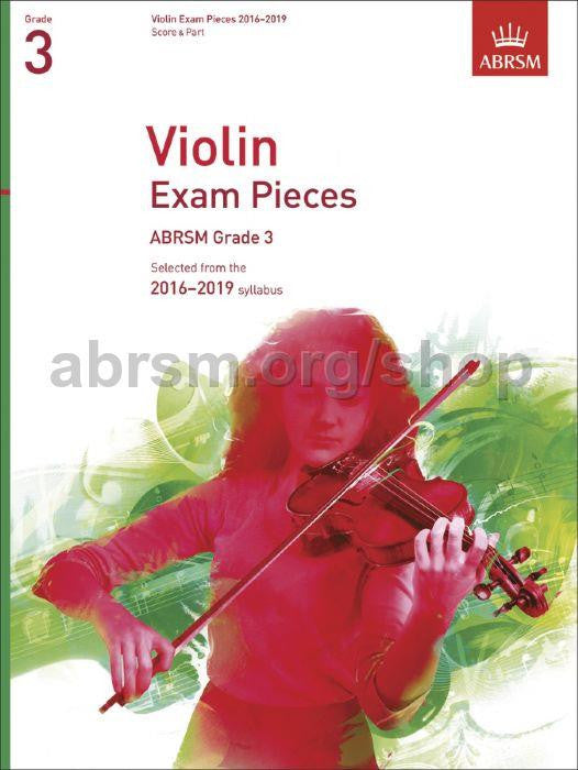 Violin Exam Pieces 2016-2019, ABRSM Grade 3 S/P