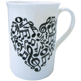 Bone China Mug - Heart of Notes