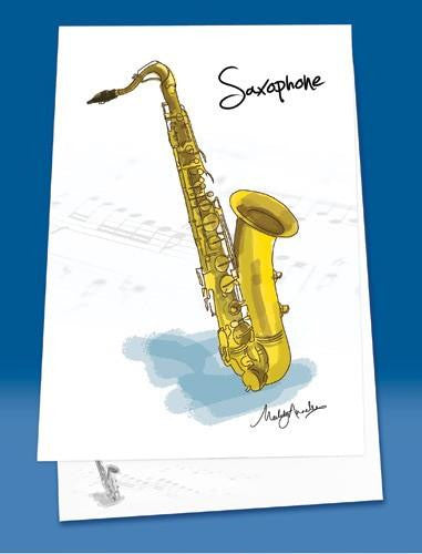 Saxophone Music Notepad - A6