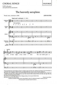 Rutter - The Heavenly Aeroplane SATB