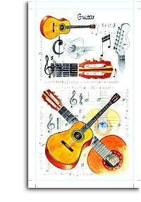 Pocket Note Pad - Guitar