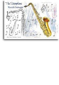 7x5 Greetings Card - Saxophone Design