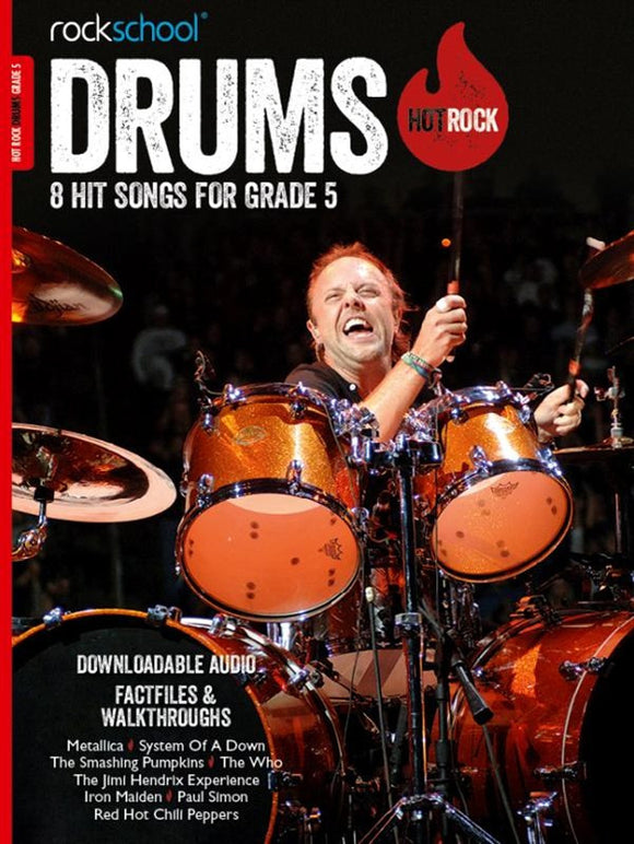 Rockschool Drums Hot Rock Book + Download