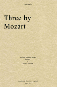 Three by Mozart, Arr. Four Flutes