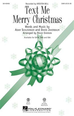Schlesinger/Javerbaum Text Me Merry Christmas (Emerson) Sab Choral