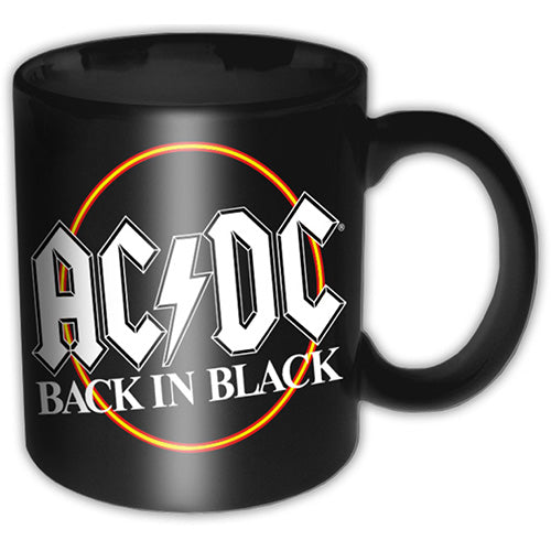 AC/DC Boxed Mug Back In Black Circle