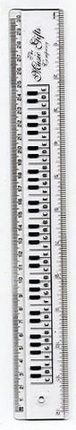 30cm White Keyboard Ruler