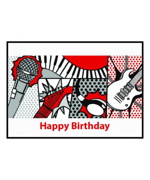 Happy Birthday Pop Art Card