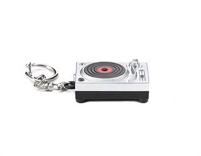 Turntable LED Keyring