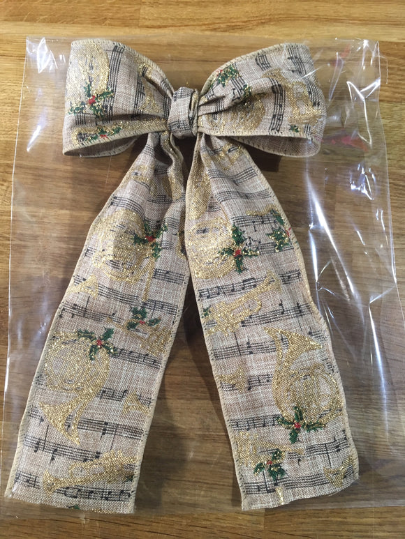 CraftyLu Handmade Christmas Tree Bow - Instruments