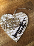 Handmade Christmas Decoration with Sentiment