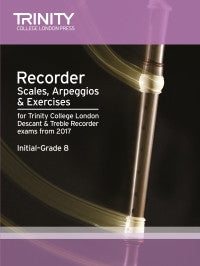 Recorder Scales, Arpeggios & Exercises Initial-Grade 8 from 2017