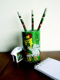Animal Band Gift Set Beaker 3 Pencils + Sharpener