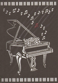 Greetings Card Piano Delicatissimo