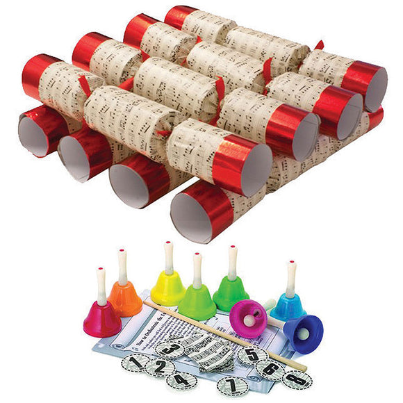 Christmas Crackers (8) Handbells Red Large 35cm