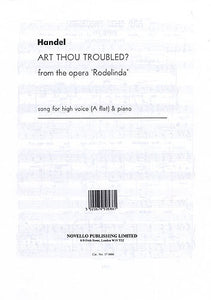 Handel Art Thou Troubled? - Ab High Voice